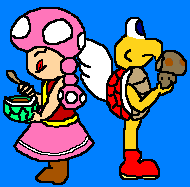 Toadette and Paratroopa by Mloun.png