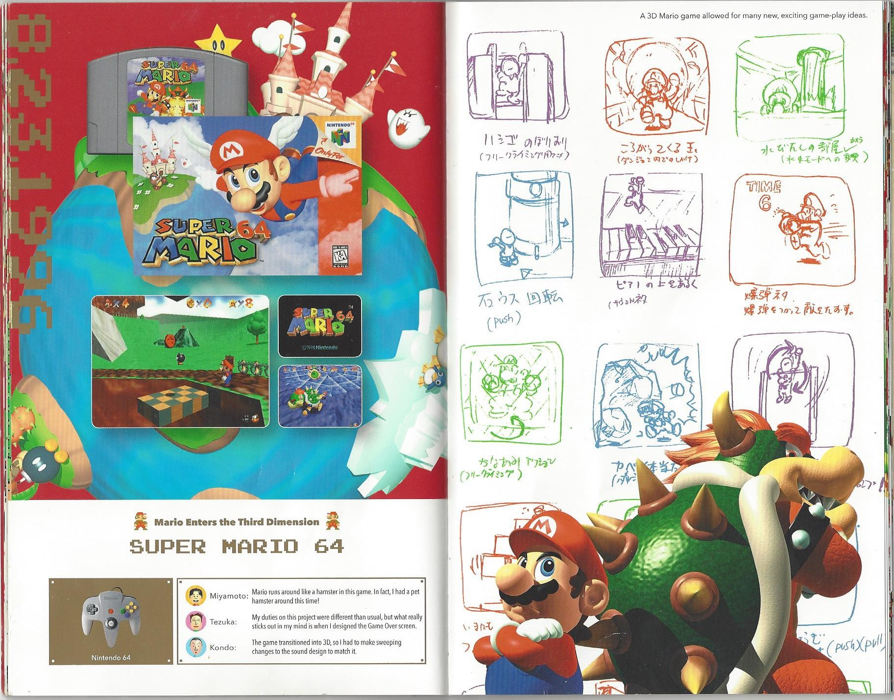 List of Super Mario 64 pre-release and unused content