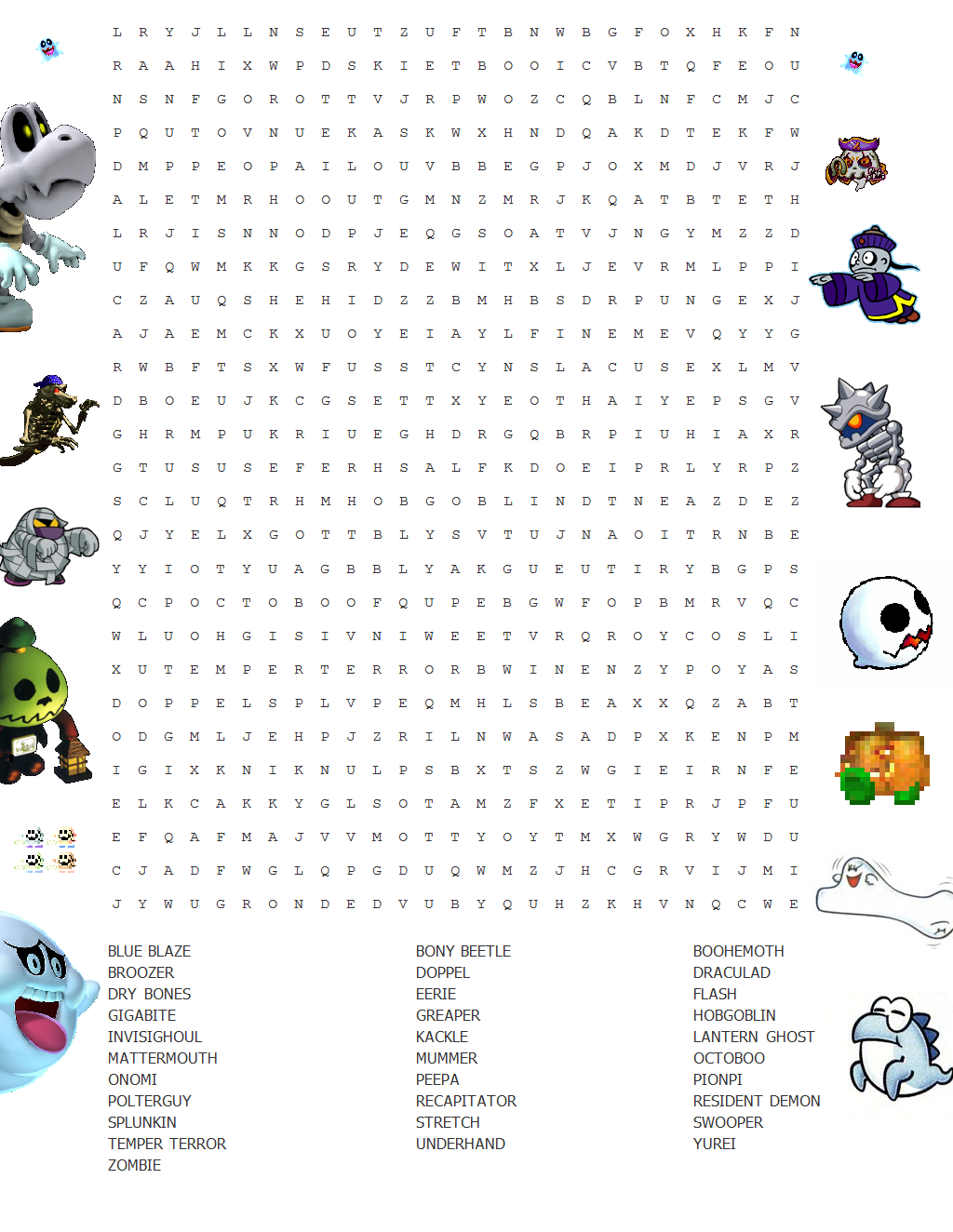Word Search Puzzles With Leftover Letters