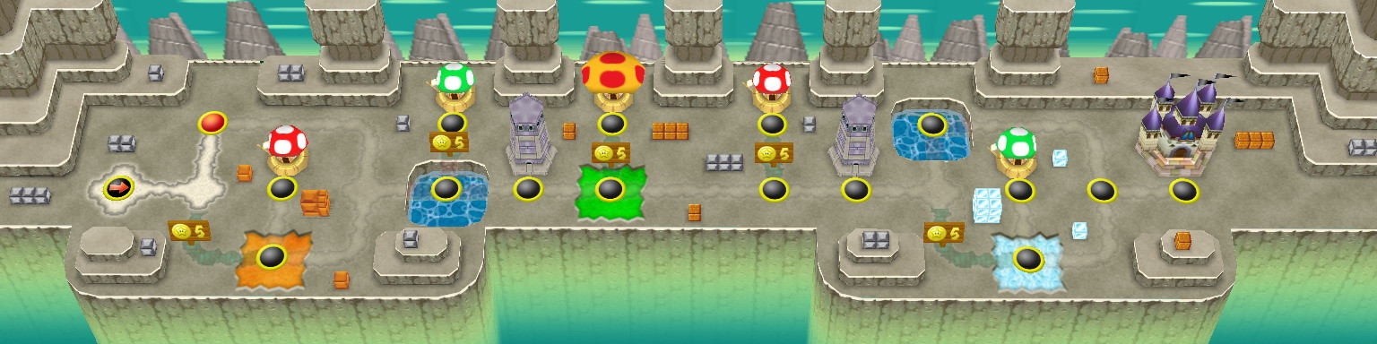16 bit styled NSMB World Map Tilesets [Cancelled] New Super Mario