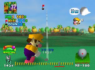 Wario in Mario Golf.