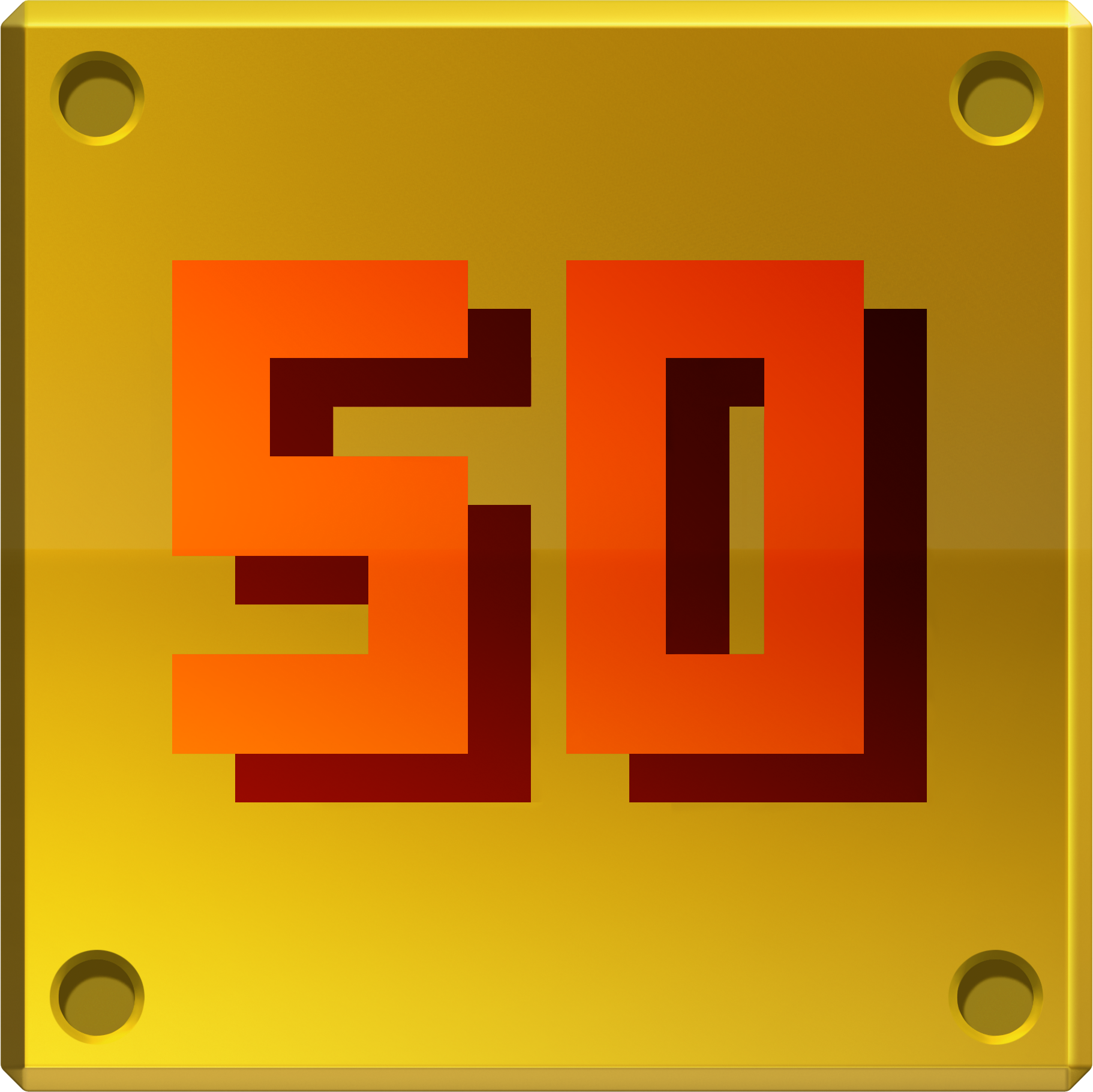 50 Gold Coin Block
