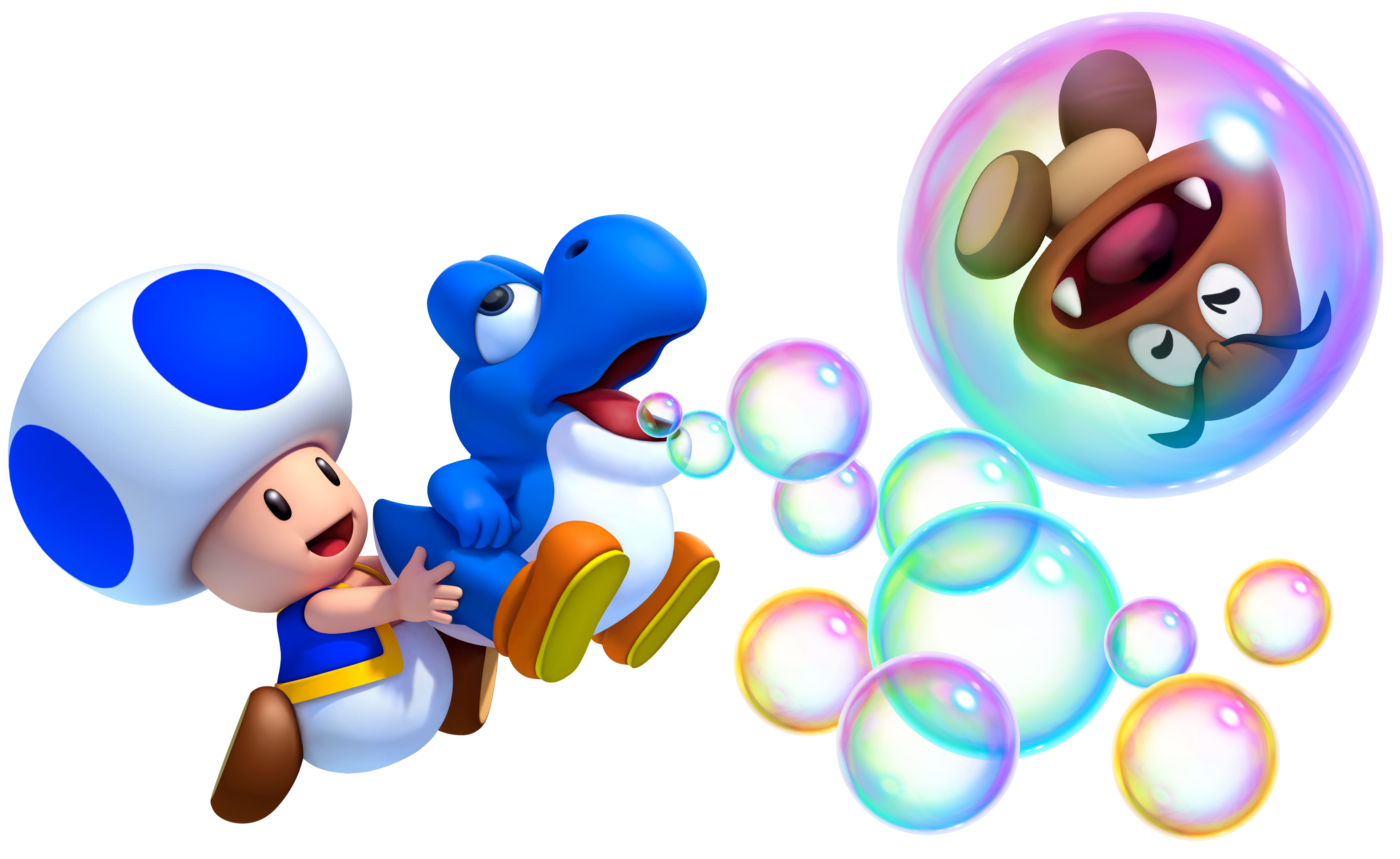 Blue Toad & Baby Yoshi