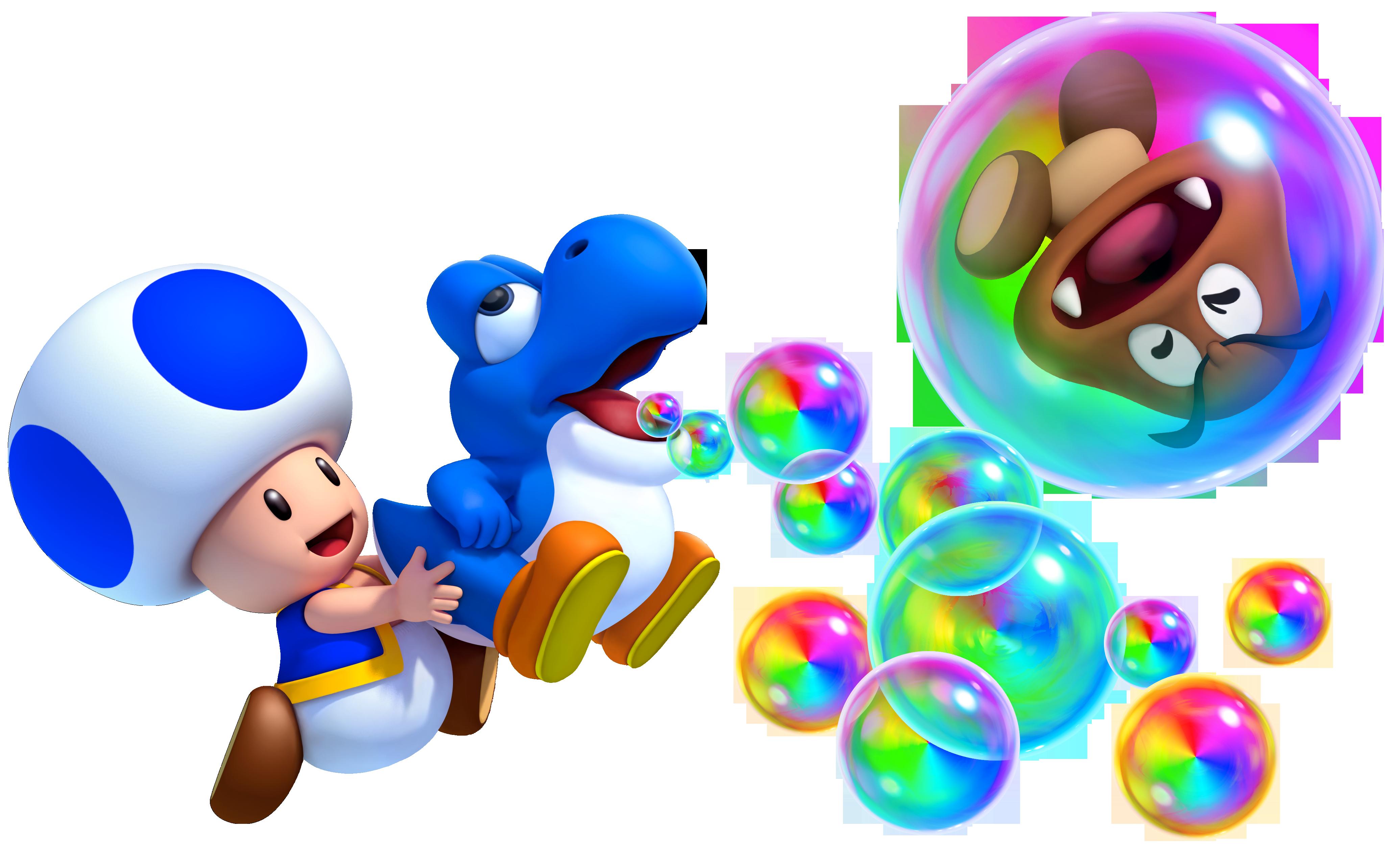 Blue Toad & Baby Yoshi