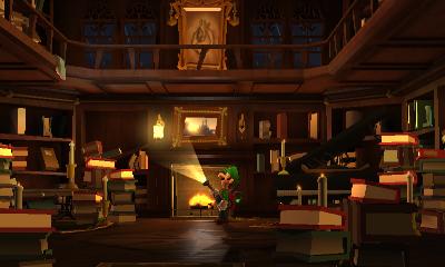 Library Luigi S Mansion Dark Moon Super Mario Wiki