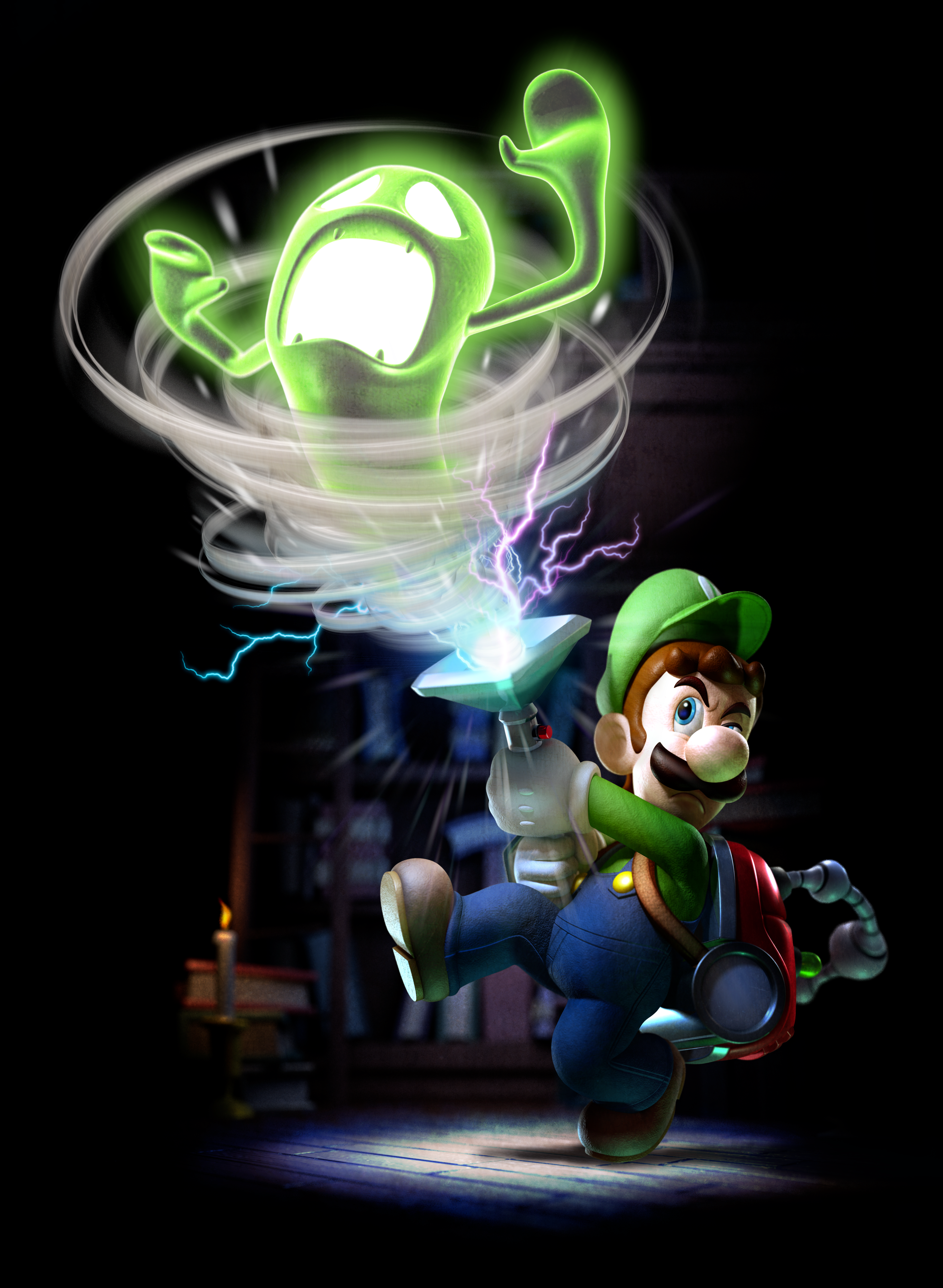 Luigi Sucking Up Ghost