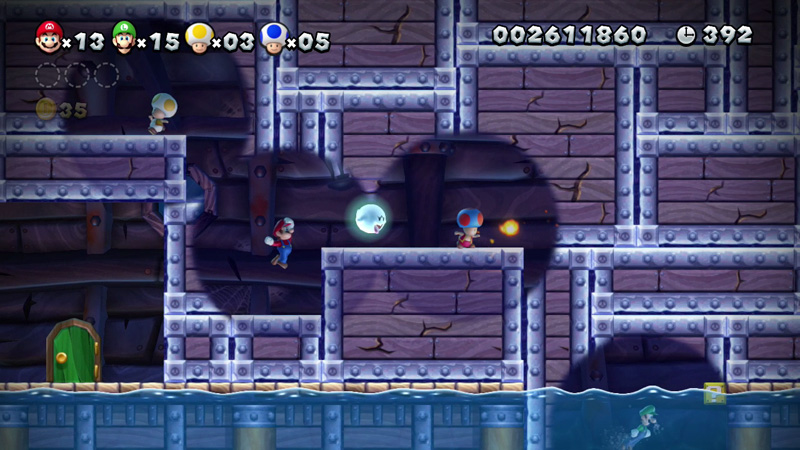 Mario brothers wii world 7 secret