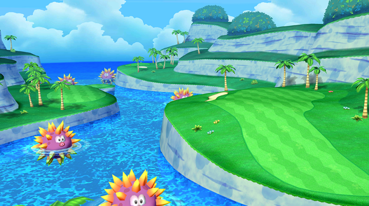 Sparkling Waters Golf Course Super Mario Wiki The