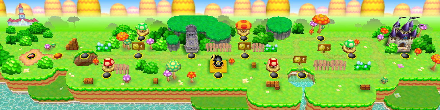 16-bit styled NSMB World Map Tilesets [Cancelled] - New