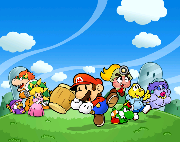 Art used for the title screen of Paper Mario: The Thousand Year Door.
