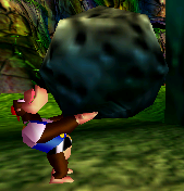 File:Chunky carrying Rock DK64.png