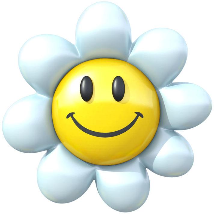 картинка улыбающегося цветка активный