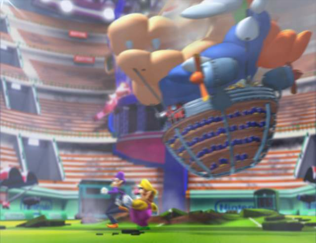 A screen from Mario Power Tennis' intro.