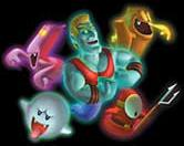 Some species of ghosts found in Luigi's Mansion.