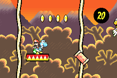 Super Mario Advance 3 - Yoshi's Island 6-3 logs.PNG