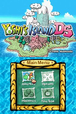rom yoshi island ds