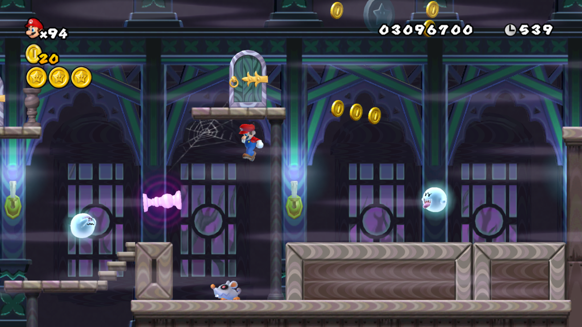 World 4 Ghost House New Super Mario Bros Wii Super Mario Wiki