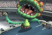 Petey Piranha, swinging the cages in Super Smash Bros. Brawl.