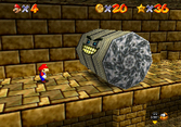 Spindels as they appear in Super Mario 64 and Super Mario 64 DS.