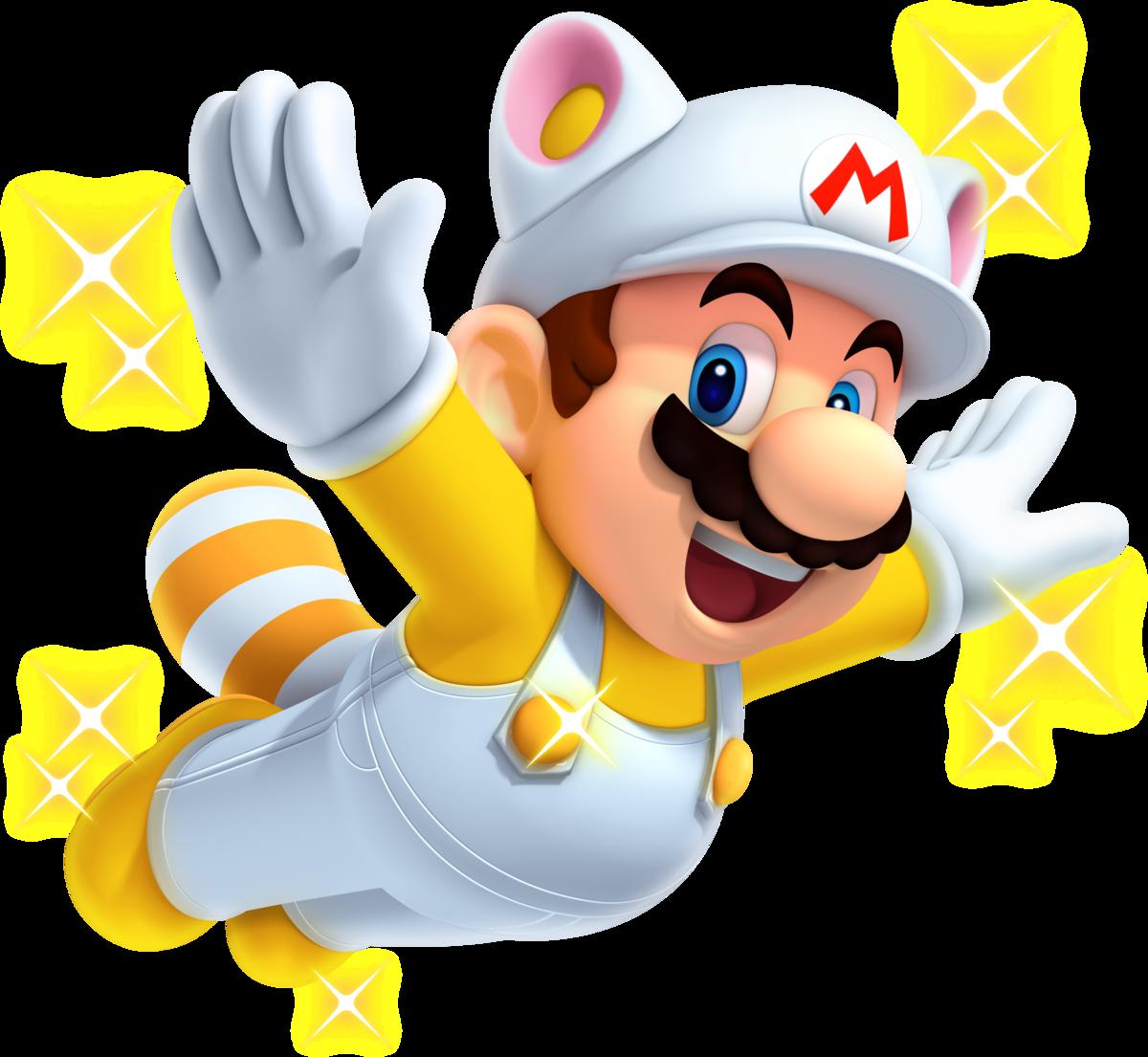 White Raccoon Mario Super Mario