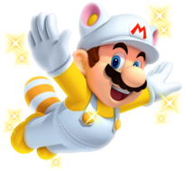Invincibility Raccoon Mario New Super Mario Bros. 2.png