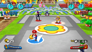 The court in Mario Sports Mix.
