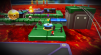 A Gold Chomp in the Chompworks Galaxy in Super Mario Galaxy 2
