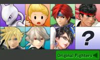 Complete character select screens, including downloadable content.