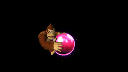 Donkey Kong getting the magenta Rare Orb