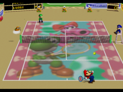 MT64 Birdo and Yoshi court.png