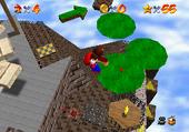 Mario  Whomp S Fortress Fall Onto Caged Island