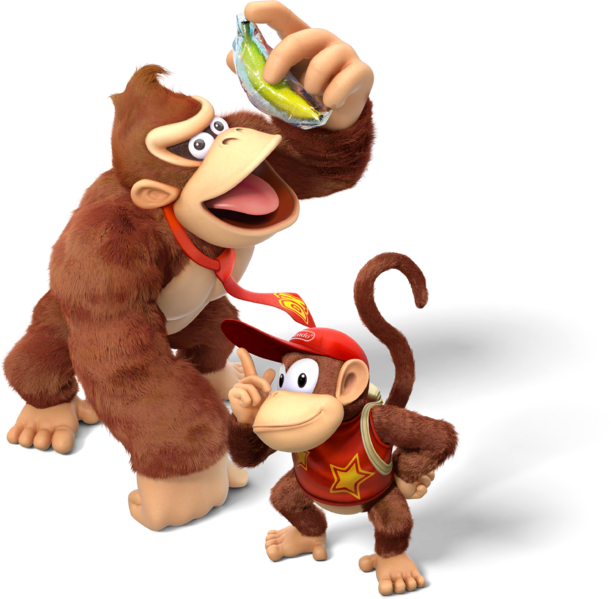 File:Donkey Kong and Diddy Kong - Donkey Kong Country Tropical Freeze.png
