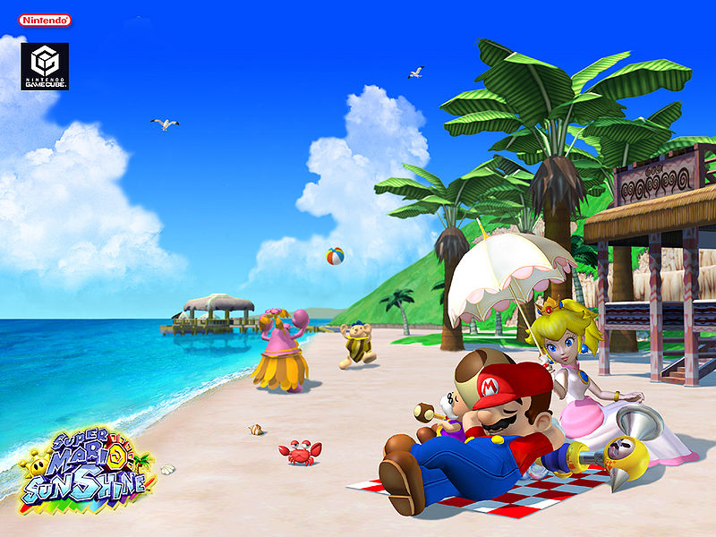 Super Mario Sunshine promo art.