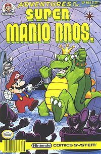 Bowser And Mario Handcuffed Together On The Cover Of Buddy System