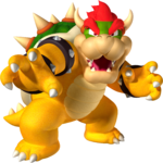 Artworks of Bowser from Super Mario Galaxy.