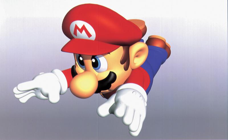Mario diving.