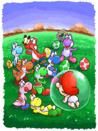 Yoshi (species) - Super Mario Wiki, the Mario encyclopedia