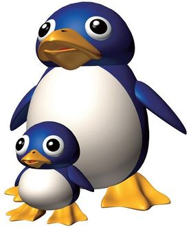 SM64 Mother Penguin and Tuxie Artwork.jpg
