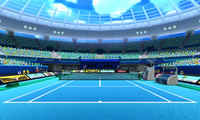 The Hard Court in Mario Tennis Open