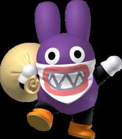 Nabbit Super Mario Wiki The Mario Encyclopedia