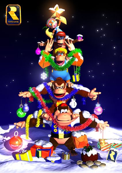 File:DK64 Christmas group artwork.jpg