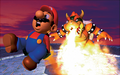 Mario and Bowser Fire Artwork - Super Mario 64.png