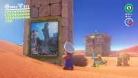 Paintings in Super Mario Odyssey.