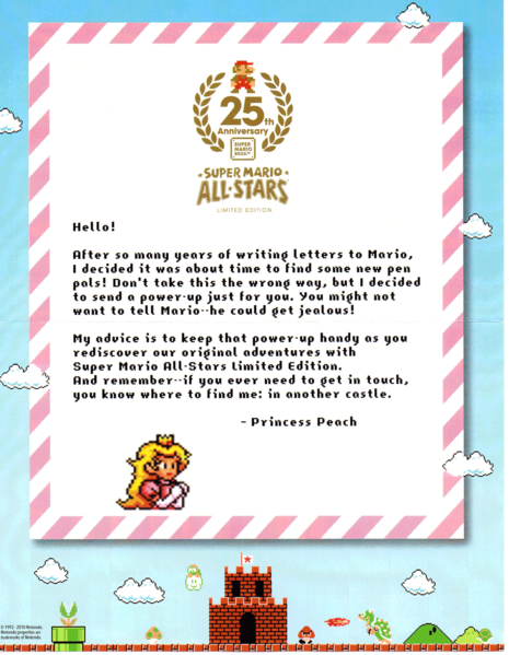 File:Letter from Peach 25th Anniversary.png