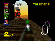 The train as it appears in Mario Kart 7. I guess that everybody knows the number on the front, so I won't tell ya.