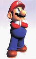 Mario Hands Crossed Artwork (alt) - Super Mario 64.png
