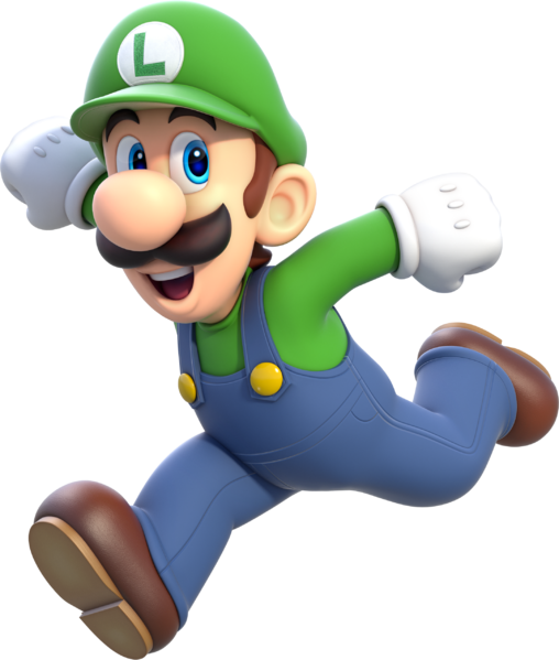 File:Luigi Artwork - Super Mario 3D World.png