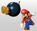 Mario Throwing Bomb Artwork - Super Mario 64.png