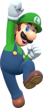 Artwork Of Luigi In His Appearance For Mario Party 10