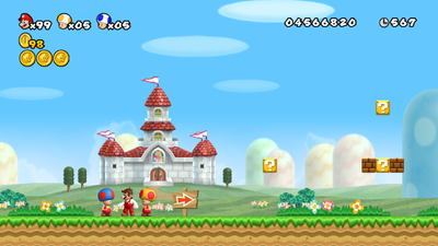 NSMBW Fire Toads and Fire Mario Screenshot.png